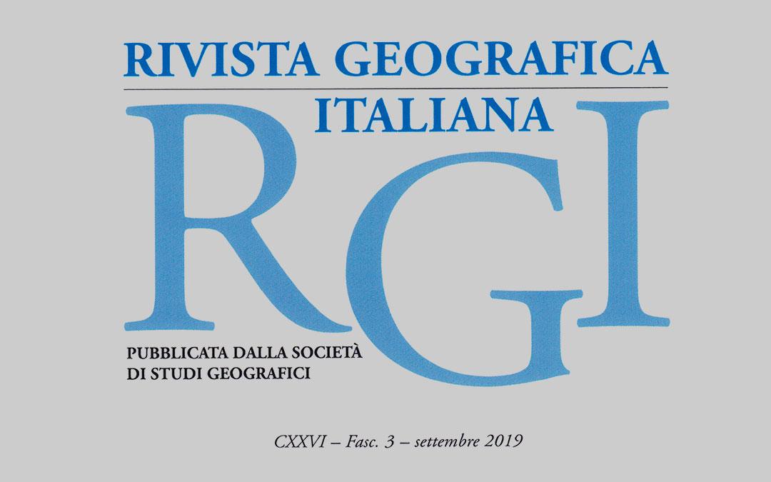 La Rivista Geografica Italiana è finalmente on line!