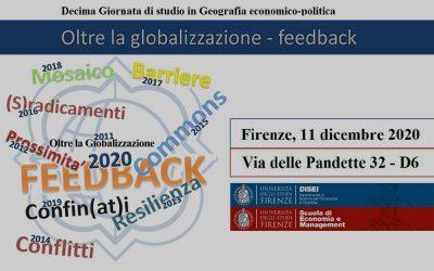 """Call for abstract X Giornata di Studio """"Oltre la globalizzazione"""""""